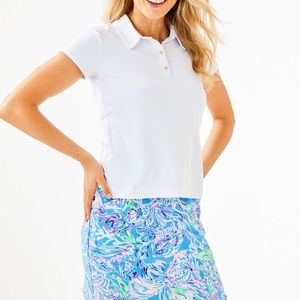 Lilly Pulitzer White Short Sleeve Polo
